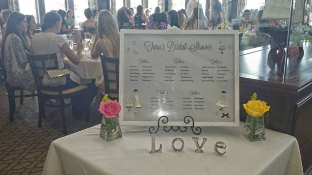 My sister made the seating chart. I think it came out beautiful!